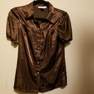 Charlotte russe brown blouse